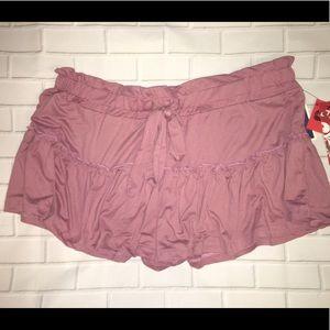 Hot Kiss Flirty Ruffled Soft Knit Skirt Shorts Min